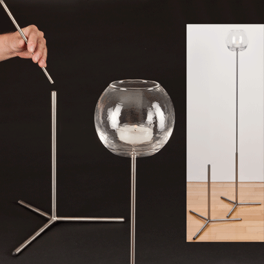 Pedestal for items on a stick