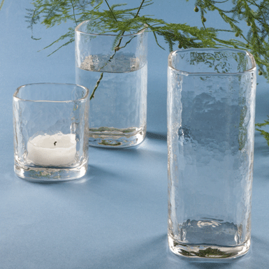 Brindisi windproof candle holder and vase