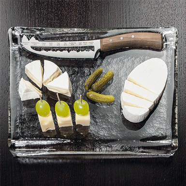 "Cheese plate with ""Panorama knife"""