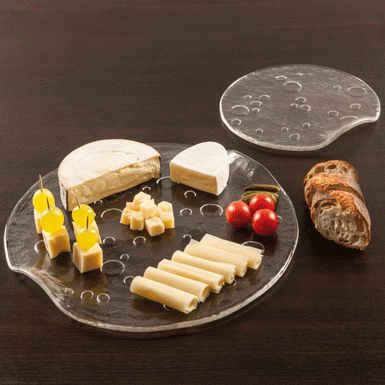 Cheese dish and serving plate