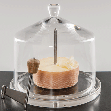 "Small glass dome for cheese slicer ""Tête de Moine"""
