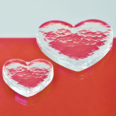Glass heart Cuore