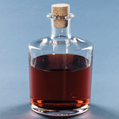 Whisky or Cognac decanter with cork stopper