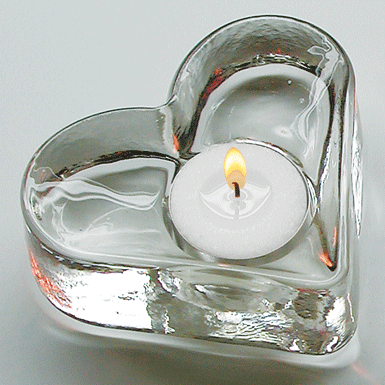 Heart with tea light