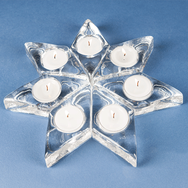7-Piece Puzzle Star (incl. candles)