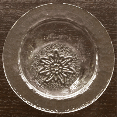 "Glasi-Bowl with motif ""Edelweiss"""