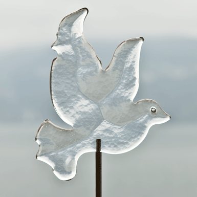 Dove on a stick