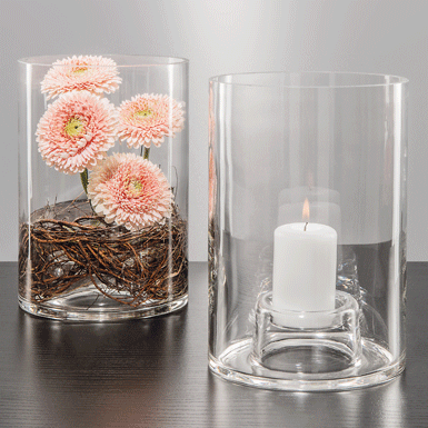 Windproof candleholder Primavera with candle