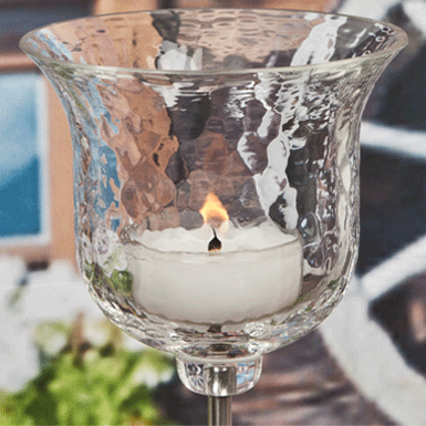 Windproof candle holder Romantica on metal stick
